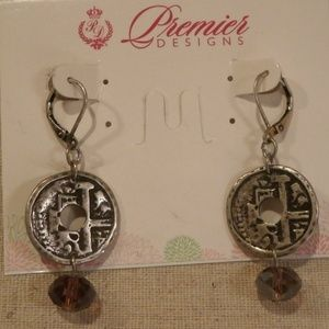 Earrings Passionista Silver Purple  NWT